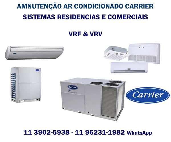 Manutenção ar-condicionado Carrier