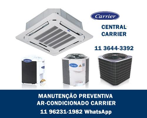 Manutenção preventiva ar-condicionado Carrier